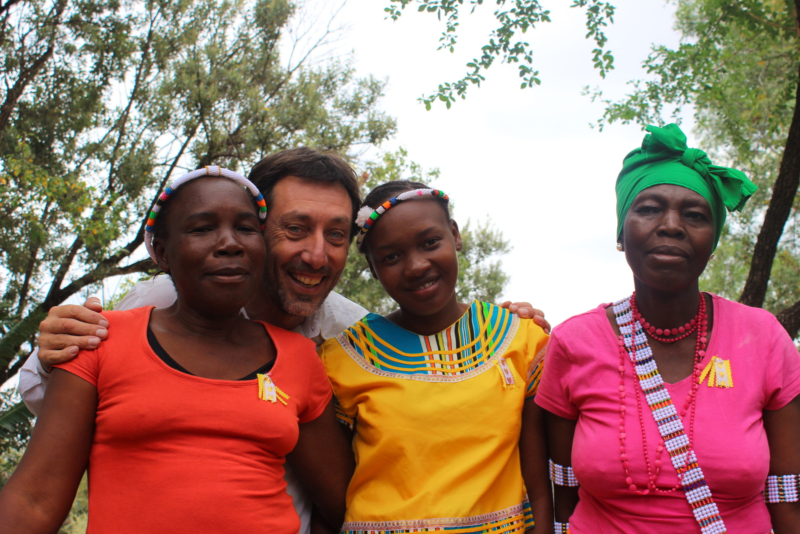 Paolo of CESVI with ladies from the EcoSchool