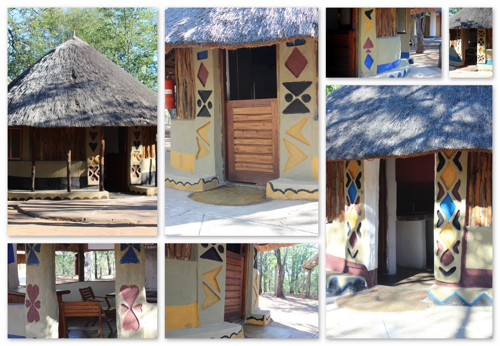 Units repainted in traditional Tsonga style