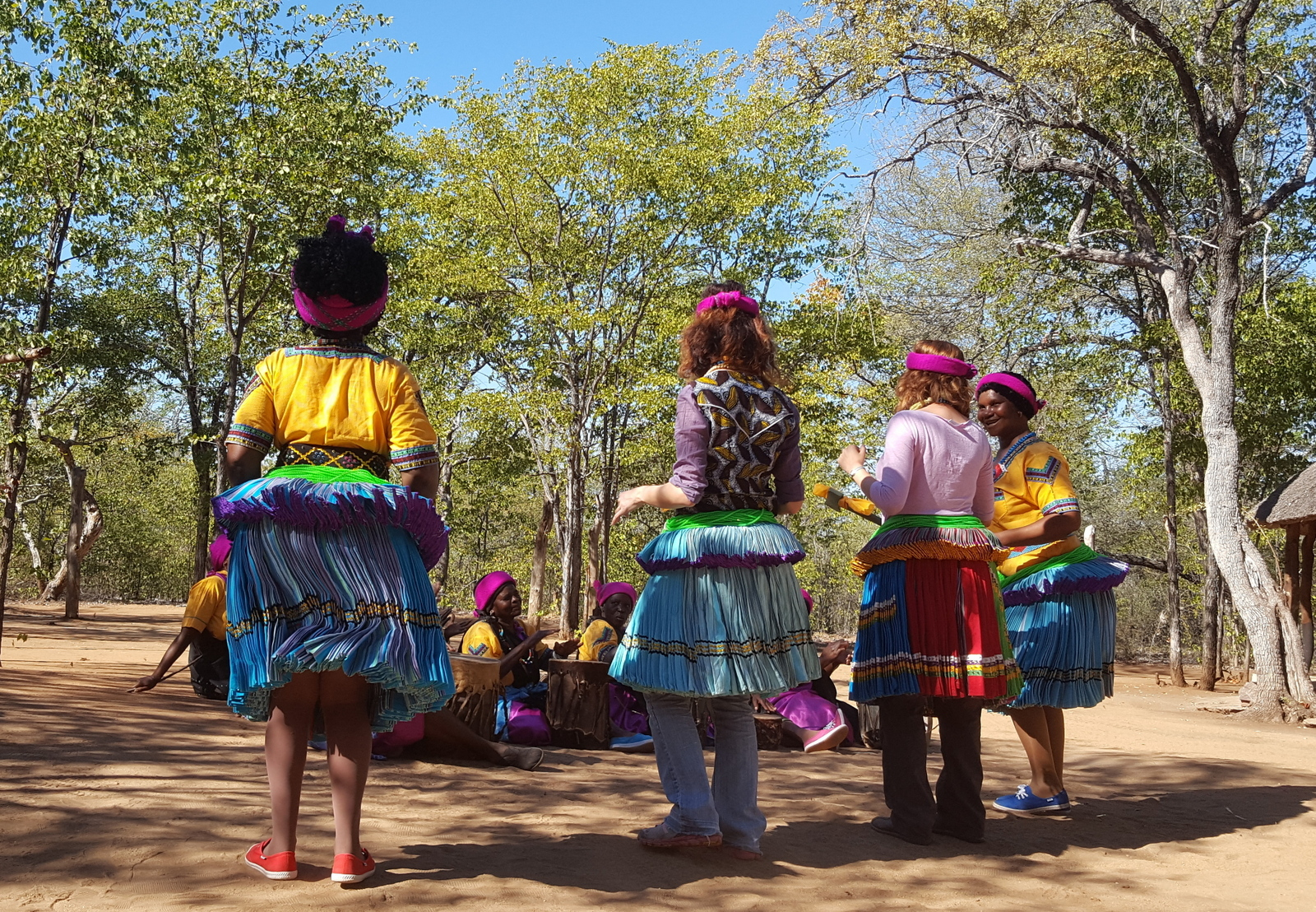 Taditional dance group teach CESVI guests